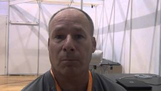 U.S. coach Rob Hermann after Greco-Roman day 1 at Junior Worlds