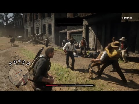 Van Der Linde Gang Melee Fighting Test
