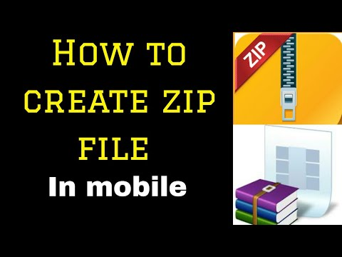 How To Create Zip File On Mobile || How To Create Zip File On Android