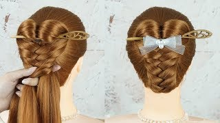 Easy Bun Hairstyles With Stick - Chinese Bun Hairstyles | Cute Easy 2 Minute Hairstyles