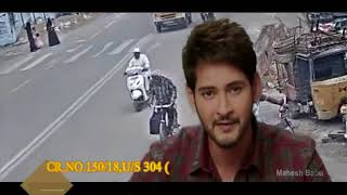 HYDERABAD TRAFFIC POLICE - ACTOR MAHESH BABU urge motorcyclists to wear helmet