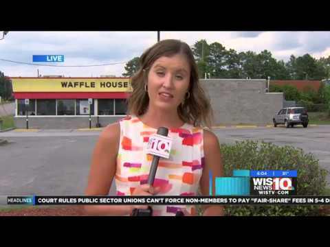 interview with WIS-TV on string of armed robberies