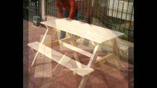 Diy - Homemade Picnic Table - Papilos M