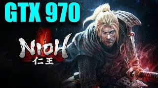 Nioh GTX 970 OC | 1080p Maxed Out | FRAME-RATE TEST