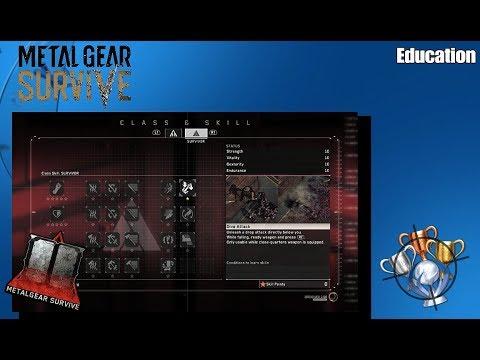 Metal Gear Survive - Education - Trophy/Achievement Guide (PS4)