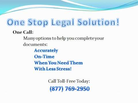 One Stop Legal Solution - Convenient, Confidential and Competent Document Preparation
