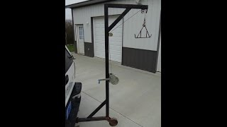 Homemade Deer Hoist / Game Hoist - Welding