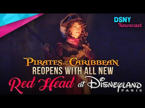 NEW Red Head Scene Debuts at Pirates of the Caribbean at Disneyland Paris - Disney News - 7/13/17
