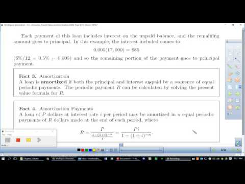 5.4: Annuities Present Value and Amortization