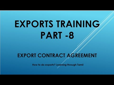 Exports training part  8 Export Contract Agreement