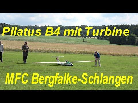 Pilatus B4 + Turbine in Schlangen gefilmt mit Sony FDR-AX 53