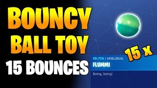 Fortnite: Get 15 Bounces in a single Throw with Bouncy Ball Toy - Tips Season 8 Week 5