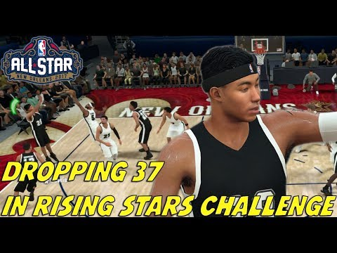 DROPPING 37 POINTS IN RISING STARS CHALLENGE! ALL STAR WEEKEND! NBA 2K18 MyCareer