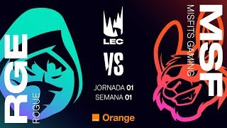LEC EN CASTELLANO - ROGUE VS MISFITS - LEAGUE OF LEGENDS EUROPEAN CHAMPIONSHIP - DÍA 1 #LECENLVP