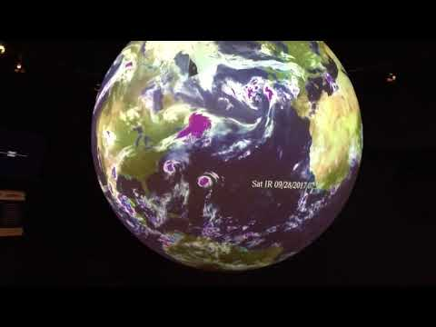 Weather globe projection at Denver Museum of Science and Nature