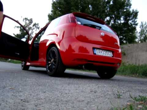 fiat grande punto sport 1 4 16v with invidia n1 exhaust. Black Bedroom Furniture Sets. Home Design Ideas