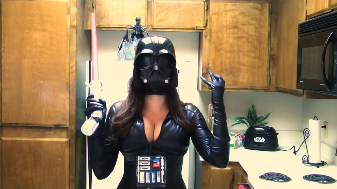 Latex Darth Vader - Naked Photo-4389
