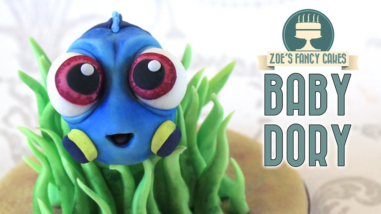 Finding Dory cake topper baby Dory YouTube