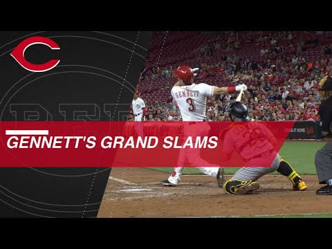Gennett racks up 5 grand slams in calendar year