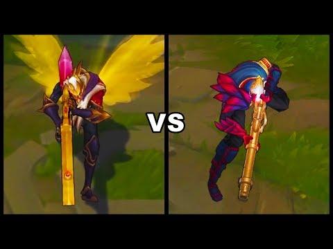 SKT T1 Jhin vs Blood Moon Jhin Epic Skins Comparison (League of Legends)