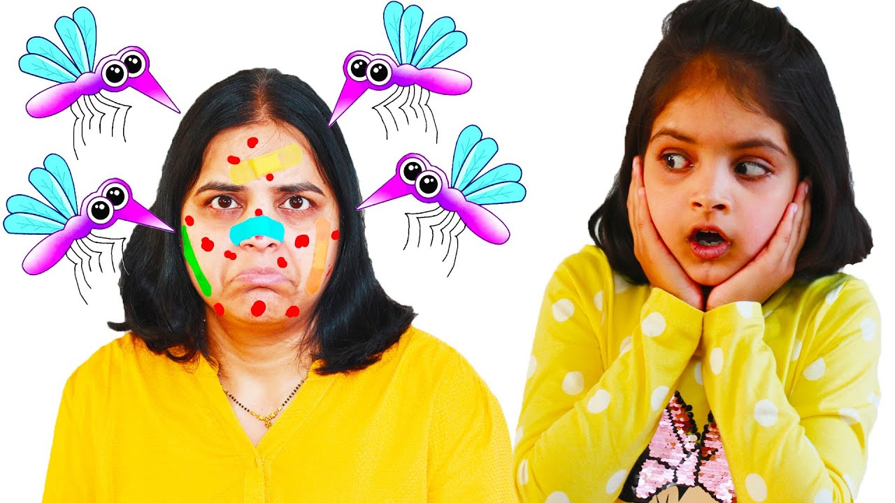 Katy Cutie and Ashu vs mosquitoes in our house