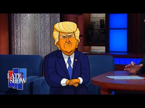 Cartoon Donald Trump Delights Audiences on The Late Show with Stephen Colbert | Adobe Creative Cloud