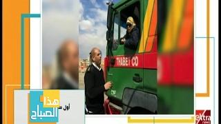 شاهد.. «أم خالد» أول سائقة نقل ثقيل في مصر