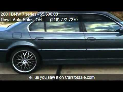 2001 bmw 7 series 740il for sale in willoughby oh 44094 youtube. Black Bedroom Furniture Sets. Home Design Ideas