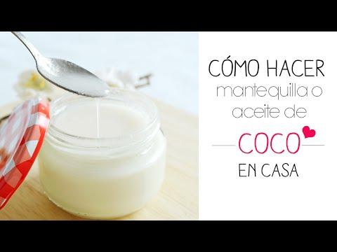 Mantequilla o aceite  Coco casero en 10 min