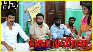 Sasikumar Sister warns Poorna | Kodiveeran Movie Scene | Sasikumar falls on Vidharth brother's feet