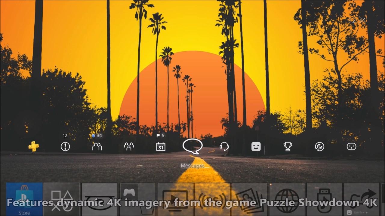 Sunset Drive PS4 Dynamic Theme