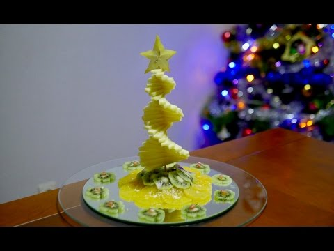 MY FRUIT CHRISTMAS TREE   By J  Pereira Art Carving Fruit