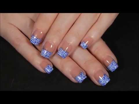 Fun French Tips French Tip Manicure Diy Nail Art Youtube