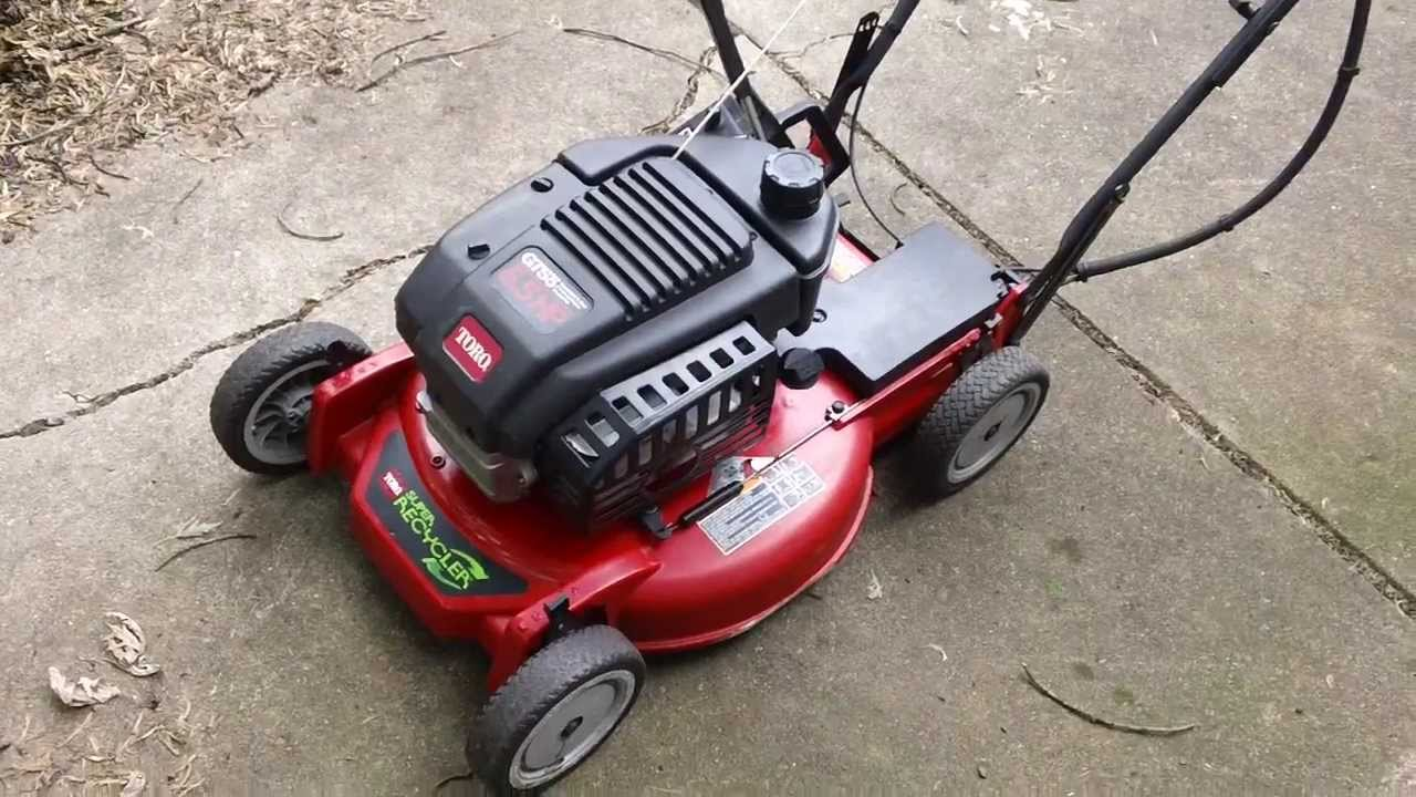 Toro Super Recycler Gts5 Lawn Mower Overview Start Youtube