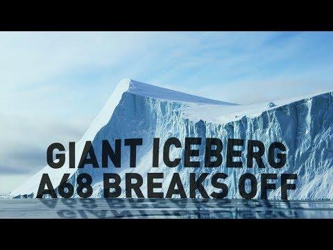 Giant iceberg breaks off Antarctica Larsen C forever