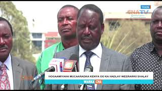 CNATV:RAILA ODINGA MUXUU KA YIRI WEERARKII SHALAY KA DHACAY NAIROBI