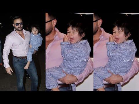 Taimur Ali Khan Cutely Yawning As He Snapped With Kareena Kapoor Khan And Saif Ali Khan At Airport Mp3