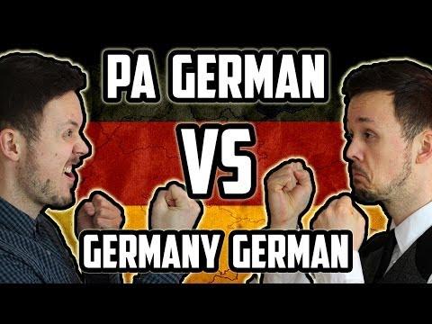 Pennsylvania German VS Germany German | A-B