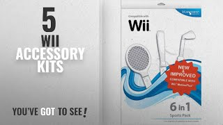 Top 10 Wii Accessory Kits [2018]: Blue Ocean Accessories 6-in-1 Sports Pack (Wii)