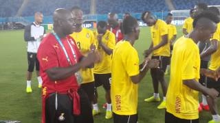 Ghana players sign before 2014 World Cup clash against USA