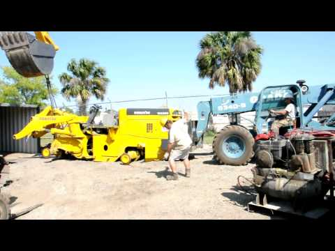 How to ship a Komatsu WA380 Wheel Loader in a container? (By Big Iron, Inc. in Jacksonville, FL)