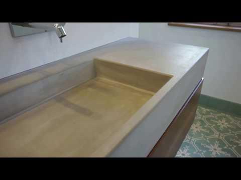 Waschtisch aus Beton