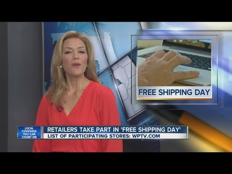 """Retailers take part in 'Free Shipping Day"""""""