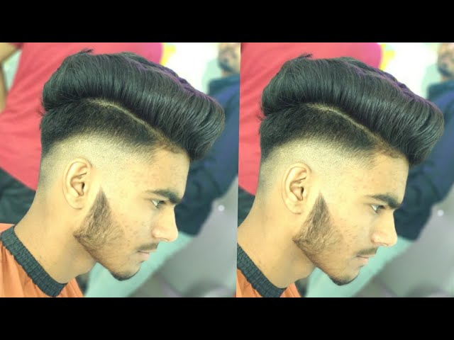 One Side Hairstyle Indian Boy Slope Haircut Youtube