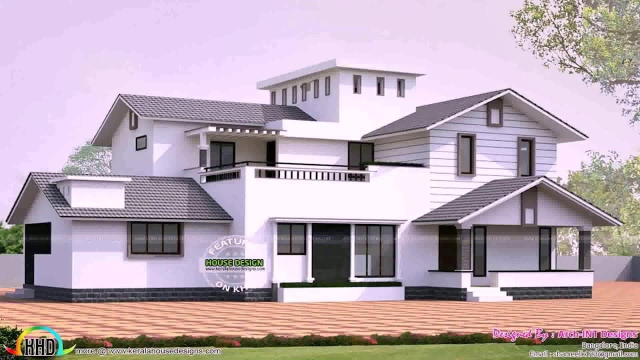 Hillside Home Design With Roof Entrance See Description