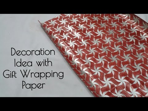 Decoration Idea with Gift Wrapping Paper | DIY Christmas Decoration Ideas | Christmas Ball Ornaments