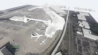 International Arrivals Facility at Sea-Tac Airport (animation)