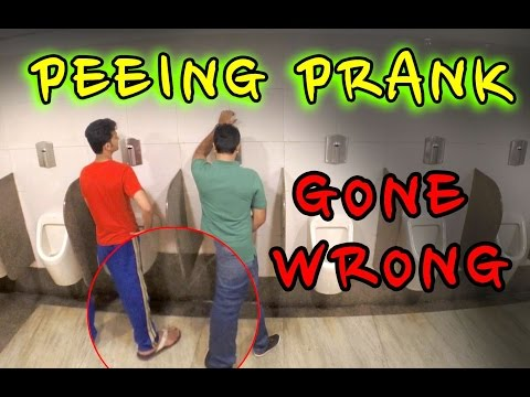 Peeing Prank Gone Wrong In Bathroom!