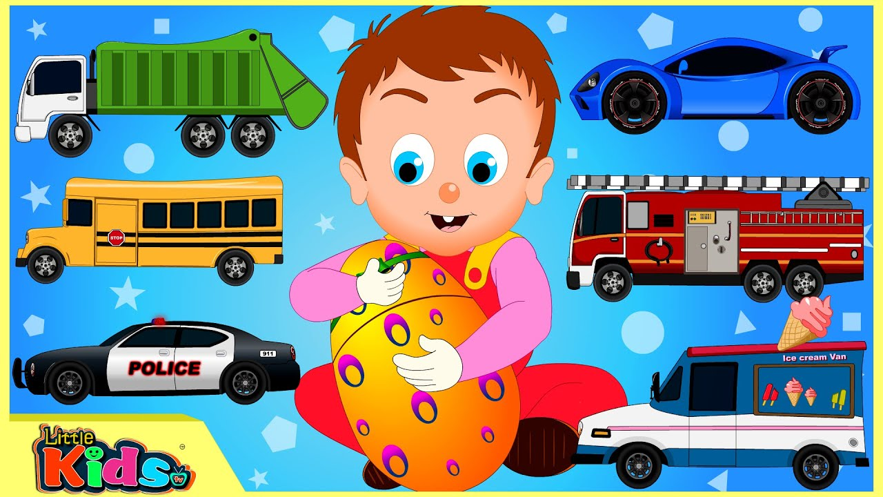 What Rhymes With Car >> Surprise Eggs Videos for Children | Street Vehicles | Cars ...