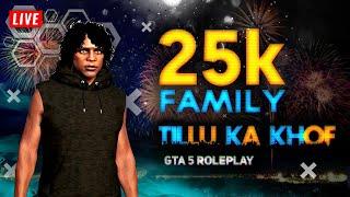 25K Family - Tillu Gta 5 Roleplay Live Stream | QAYZER GAMING